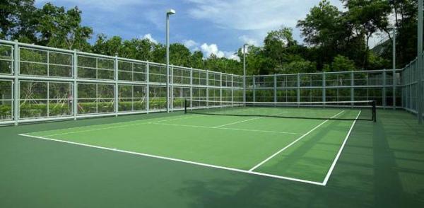 丙烯酸球场耐候性好可减免运动伤害